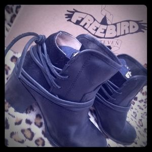 Freebird by Steven Casey leather ankle boots